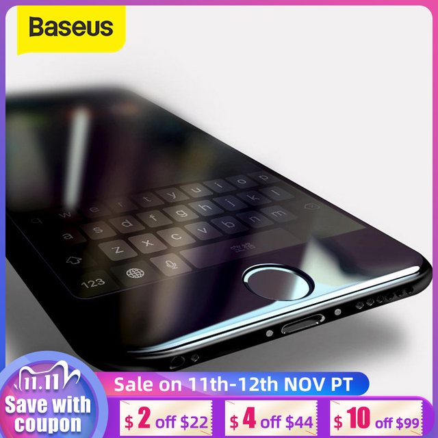 Baseus For iPhone 8 7 Screen Protector Ultra Thin 9H Scratch Proof Tempered Glass For iPhone 7 Plus 8 Plus Protective Glass