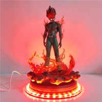 Наруто, декоративный светодиодный светильник в виде персонажа из мультфильма «Might Guy», статуя «Can Guy», база USB, светодиодный настольный светил...