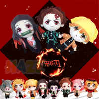 Anime Demone Slayer: kimetsu no Yaiba Kamado Tanjirou Bambole Giocattoli di Peluche Molle Farcito Peluche Baby Doll Giocattoli Per Bambini Regali di 20 centimetri