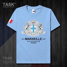 Marselha frança europa internacional cidade turística provence logotipo cultura lembrança dos homens esportes moda t camisa topos algodão t 20
