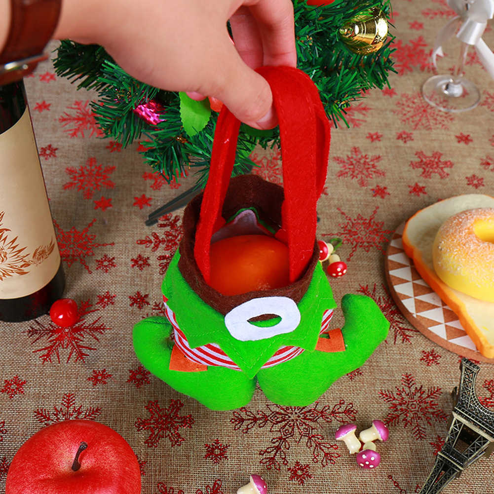 Boże narodzenie Clown Elf duch przewodnik spodnie cukierki torba na prezent Xmas drzewa wiszące wisiorek 2019 wiszące Xmas dekor w kształcie drzewa torba na prezent