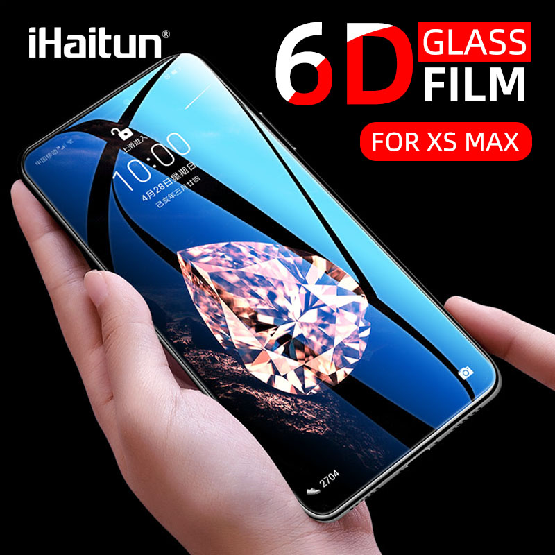 IHaitun Luxury 6D Glass For IPhone 11 Pro Max X XS MAX XR Tempered Glass Screen Protector For IPhone 10 7 8 Plus Full Cover Film