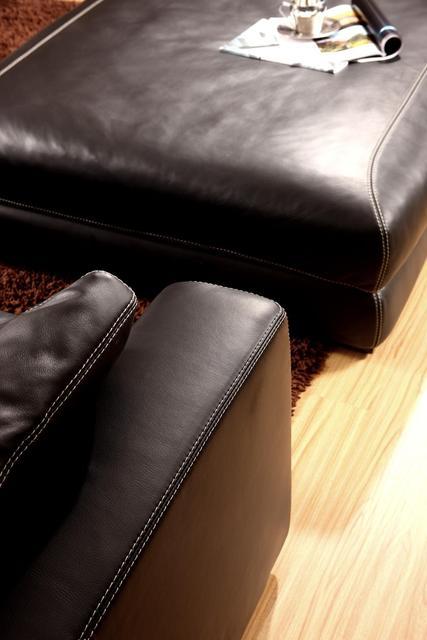 Genuine Leather L Shaped Corner Sofa 6