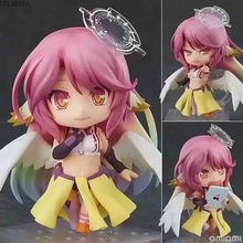 Anime 10cm Q Version NO GAME NO LIFE Shiro Jibril 794# Change Face PVC Action Figure Collection Model Toys Doll Gift lelakaya