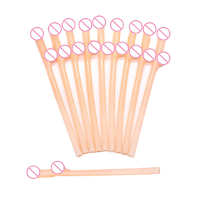 Image 2 - 10 pcs Drinking penis straws Bridal Shower Sexy Hen Night Willy Penis Novelty Nude Straw for Bar Bachelorette Party supplies