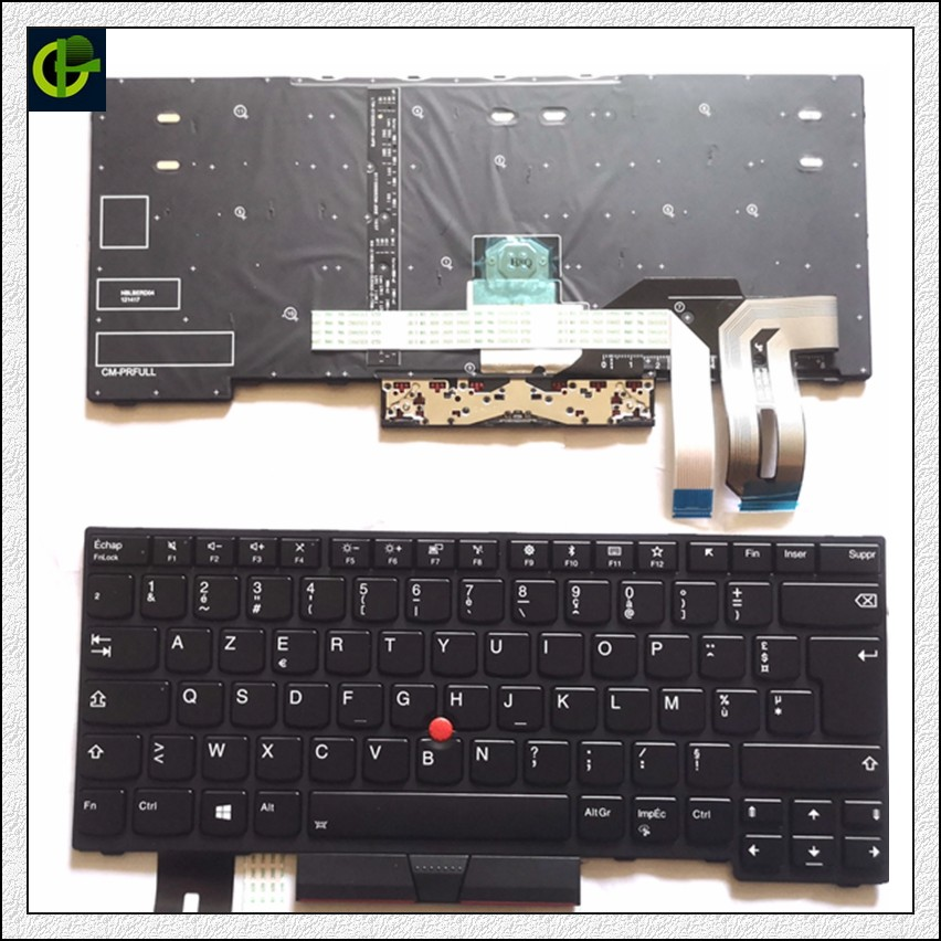 French Azerty Backlit Keyboard For Lenovo Thinkpad E480 E485 L480 L380 T490 E490 E495  L490 T495 Yoga T480S L390 01YP360 FR