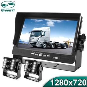 GreenYi High Definition AHD 1280*720 Truck Backup Starlight Night Vision Camera 7 inch Car Reverse Monitor For Bus Vehicle(China)