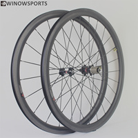Winowsports high stiffiness carbon road bike wheels novatec 271/372 hub clincher and tubeless 3k twill brake 38 50 60 88mm rims