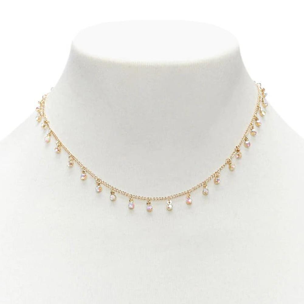 2019 New Arrival Women Jewelry Cubic Zirconian Necklace Charm Handmade Choker Collier Femme Jewelry XL791
