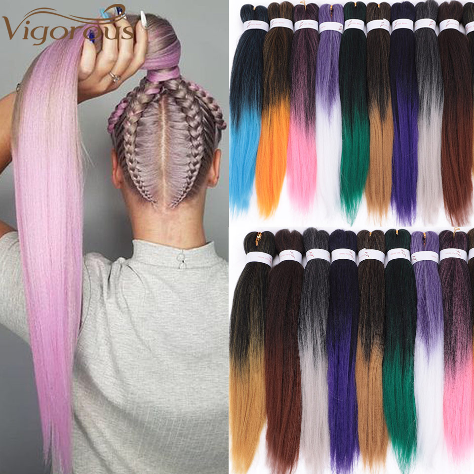 Vigorous Synthetic Easy Jumbo Braids Hair Ombre Braiding Hair 20inches Crochet Hair Extensions