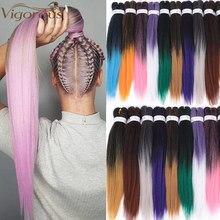 Vigorous Synthetic Easy Jumbo Braids Hair Ombre Braiding