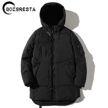 GOESRESTA 2020 Winter New Men's Cotton Clothing Casual Wild Coat Jacket Stand Collar Large Size Fashion Cotton Clothing Men puimentiua men s winter parker cotton clothing warm fashion cotton clothing jacket large fur collar hooded men s wild 2019