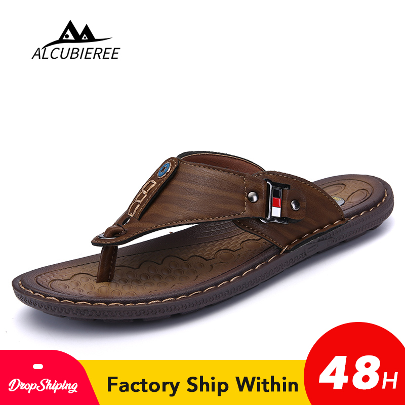 Trendy New Fashion Mens Sandals Slip On Leather Korean Summer Hot Sale Casual US