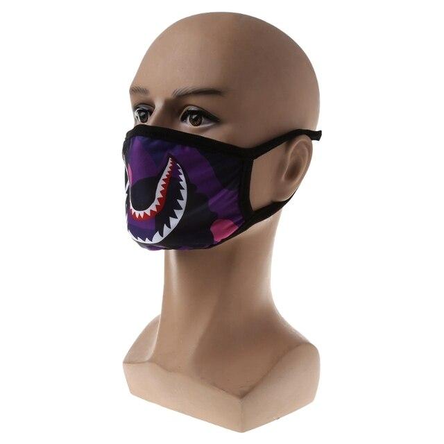 Shark Mouth Anti-Fog Flu Face Masks Unisex  Mouth-muffle Mask 5
