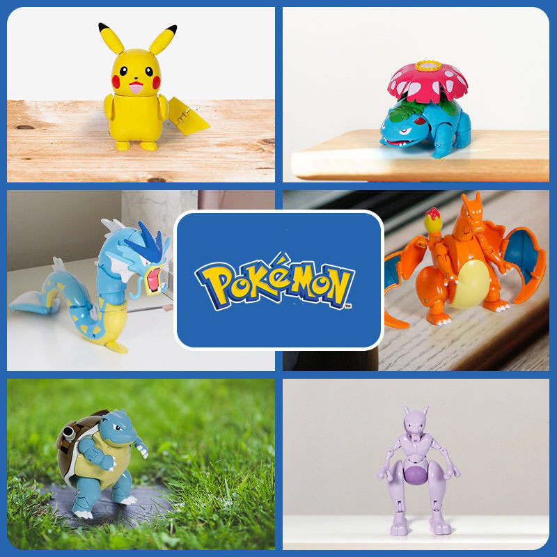 Takara Tomy Pokemon Deformation pokeball Figures Toys Transform Pikachu Charizard Squirtle Action Figure Model Dolls Kids gifts 2