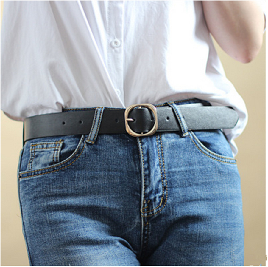 Belt Ladies Personality Fashion Wide Belt Korean Retro Pin Buckle Decorative Jeans Belt Student Belt