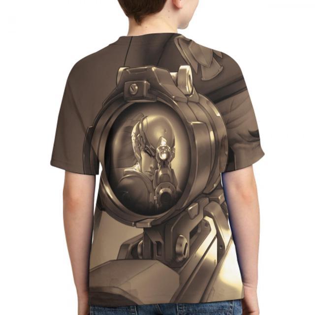 printing overwatch summer t shirt harajuku female/male casual t shirt overwatch action figure women/men t shirt 1