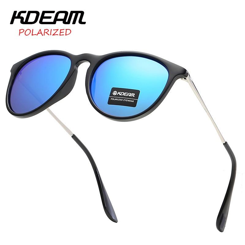 Fashion Sunglasses Men Women KDEAM TAC LensTop Luxury Brand Polarized Sunglasses Pilot Unisex Driving Mirror Sunglasses Eyewear|Men