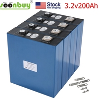 2020new Lifepo4 3.2v200ah lifepo4 rechargeable battery 3.2v200ah battery, suitable for 12v200ah solar US warehouse