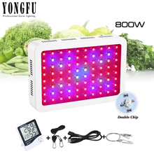 800W Double Chip Plant Light indoor greenhouse planting Full Spectrum LED Grow Light For Hydroponic Planting Tent planting a time for planting v 1