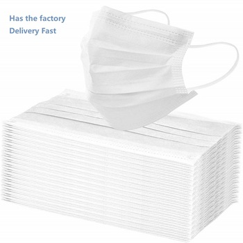 Disposable Adult Mask Face Mask 10 / 200 pcs 3-layer Disposable Non-woven Fabric Protection Mask Fast Shipping