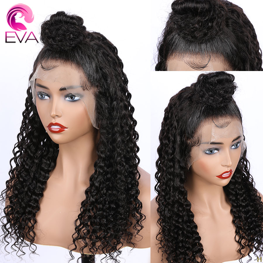 Eva Hair Full Lace Human Hair Wigs For Black Women 150% Density Pre Plucked Brazilian Remy Curly Hair Wigs With Baby Hair