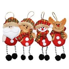 2019 Xmas DIY Christmas Hanging Ornaments Tree Pendant New Year Doll Gift Santa Claus Decorations for Home 5pcs