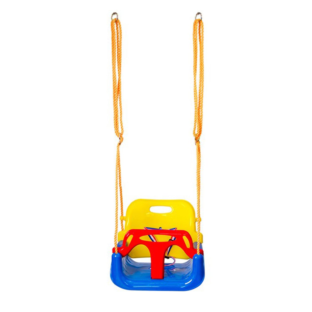 Indoor Outdoor Safe Healthy Swing For Kids Toys For Children Baby Low Back PE Plastic Basket Fun Crazy Games Leisure Time