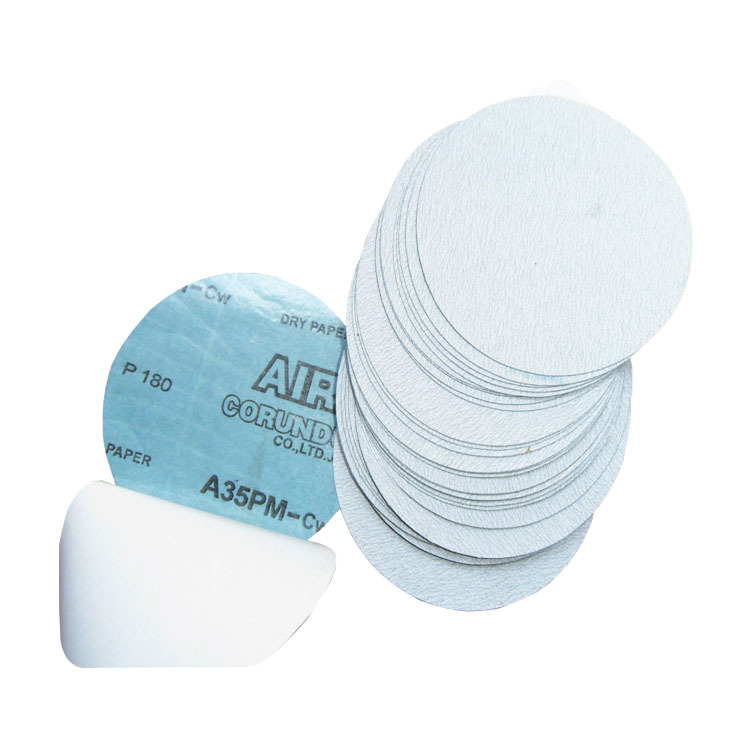 5-Inch A35 Gum SNAD Paper Disk 125mm White Sand Disc Sandpaper Napper Bei Rong Pian Self-Adhesive Sandpaper Grinding