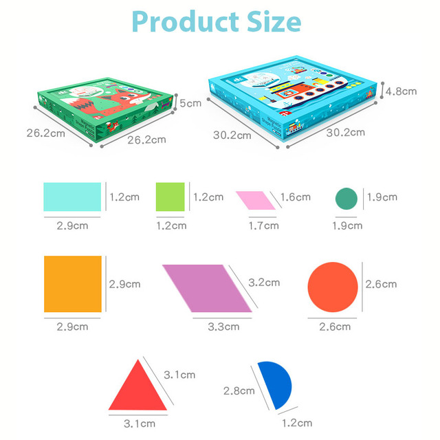 Kids 3D Geometric Shape Magnetic Jigsaw Puzzle Wooden Toy Baby Early Education Learning Toys for Children Tangram Drawing Board