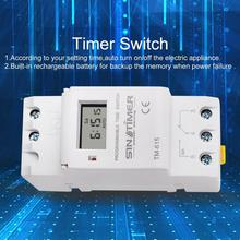 цена на Digital Programmable Time Switch Relay Timer Control Din Rail Mount for Electric Appliance AC 220V Weekly 7 Days Tools free ship