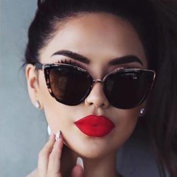 Cat eye okulary przeciwsłoneczne damskie okulary przeciwsłoneczne w stylu Vintage gradientu okulary Retro okulary przeciwsłoneczne Cateye okulary damskie DAVE tanie i dobre opinie Dla dorosłych Kobiety Poliwęglan UV400 Żywica Round Face Long Face Square Face Oval Face sunglasses women