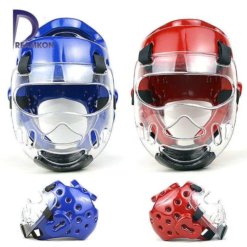 Тхэквондо защитный шлем карате Кикбоксинг Санда Защита головы с маской ITF WTF тренировочный защитный головной убор