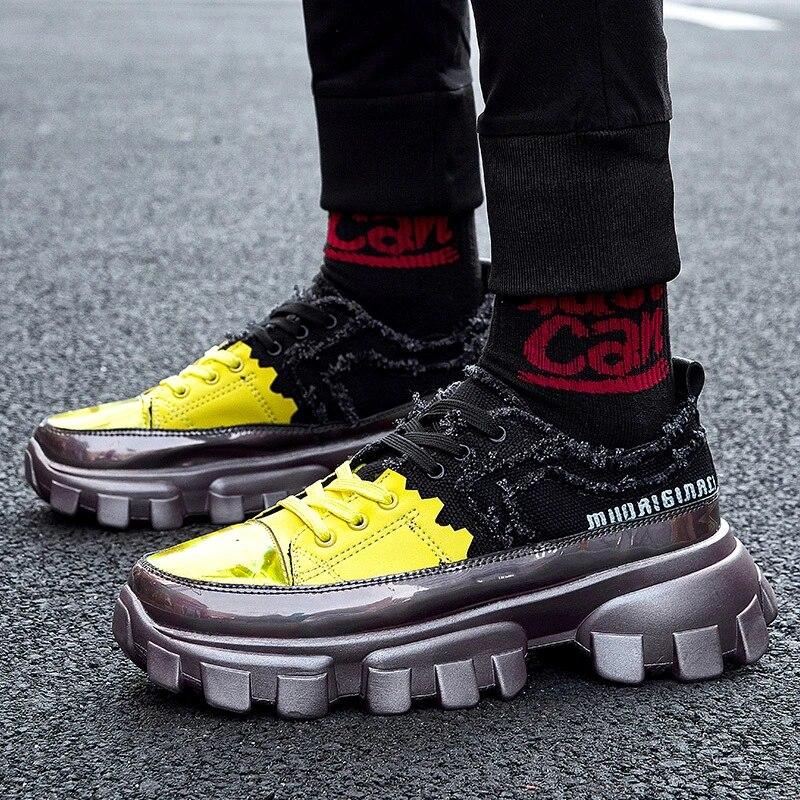 sensitives Hip Hop Men Chunky Sneakers Casual Shoes Retro high Platform Sneakers Basket Man Walking Shoes