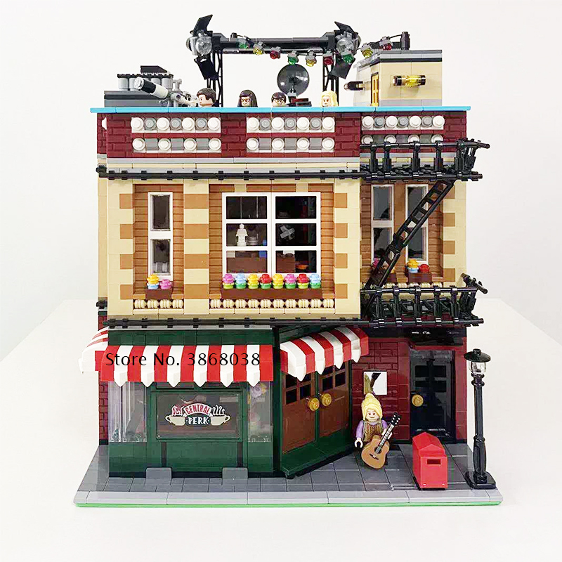 New 4638pcs Classic Tv Series American Drama Friends Central Perk Cafe The Big Bang Theory <font><b>21319</b></font> Friends Model Building Block image