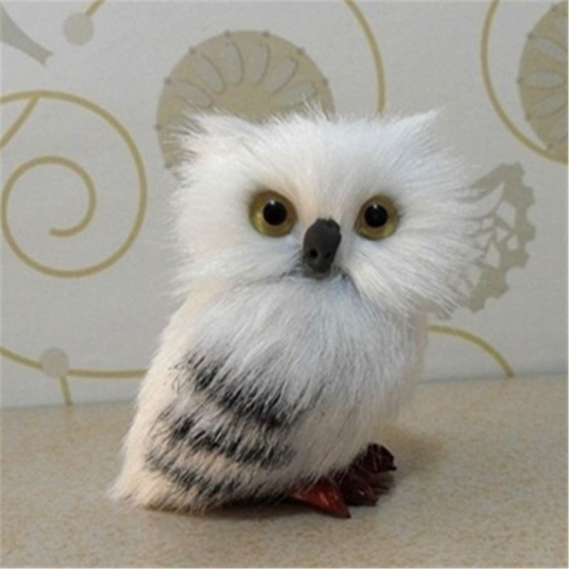 7cm High Cute Snowy Owl Hedwig Potters Letter Delivery Doll Cute Toys Harried Bi