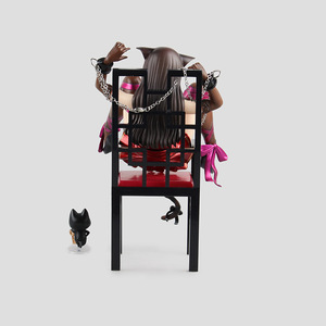 Image 5 - Japanese Anime Embrace Sexy Cat Girl Figures Chu ka na Neko & Chair PVC Action Figure Anime Sexy Gril Collectible Model Doll Toy