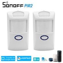 2 sztuk SONOFF PIR2 bezprzewodowy czujnik podczerwieni 433Mhz RF PIR czujnik ruchu inteligentny System automatyki domowej bezpieczeństwa dla Alexa
