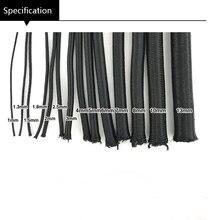 Черно-белая высококачественная круглая эластичная повязка 1 мм-15 мм, круглая эластичная канатная Резиновая лента, эластичная линия, DIY Швейн...
