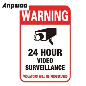 Decal-Signs Alarm Sticker Security-Camera Cctv-Video Warning Surveillance NEW Waterproof