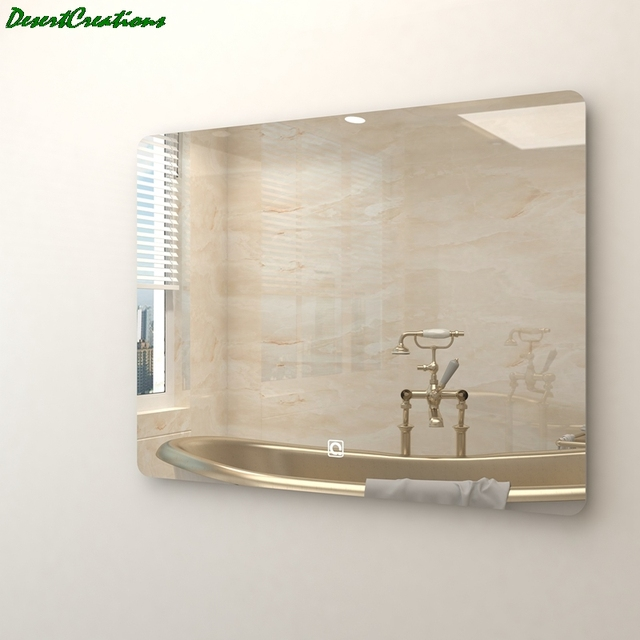 Morden Wall Mounted Mirror Bathroom Vanity LED Lighted Mirror For Making Up 6
