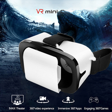 VR Virtual Reality Glasses 3D Glasses Box Stereo VR Full Screen Visual Wide-Angle VR Glasses For Smartphones Eyeglasses Devices caraok v9 all in one vr glasses wifi bluetooth virtual reality 3d glasses with 1 2ghz allwinner a33 quad core support otg