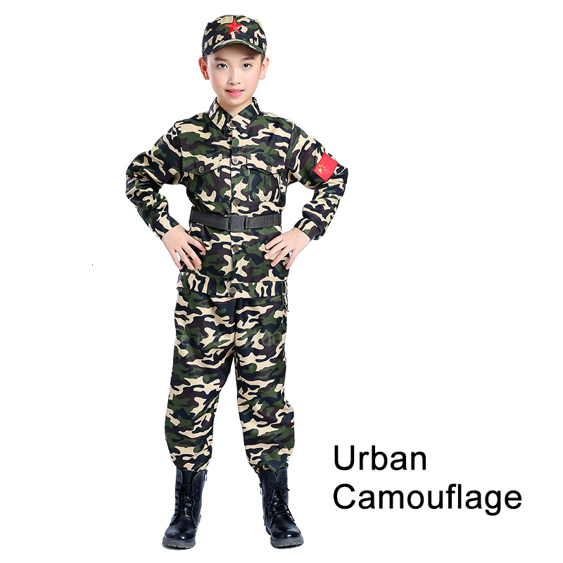Children Camouflage Tactical Uniforms Hunting Set Men Military Clothing Combat Jackets Pants Kids Army Clothes Cosplay Costumes - Цвет: Style6