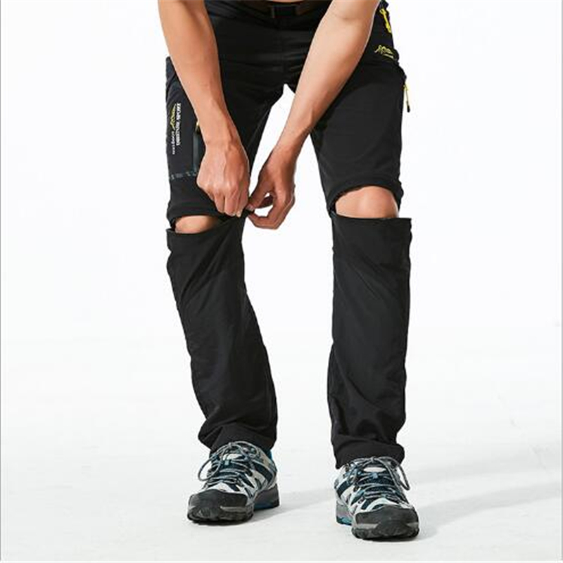 Outdoor Quick Dry Removable Hiking Pants Outdoor <font><b>6XL</b></font> <font><b>Mens</b></font> Autumn Summer Breathable Shorts <font><b>Men</b></font> Mountain Camping Trekking Trousers image