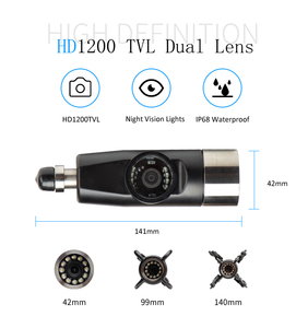 Image 2 - Exklusive Design 4500mAh HD Dual Kamera Objektiv Ablauf Kanalisation Pipeline Industrie Endoskop SYANSPAN Rohr Inspektion Video Kamera