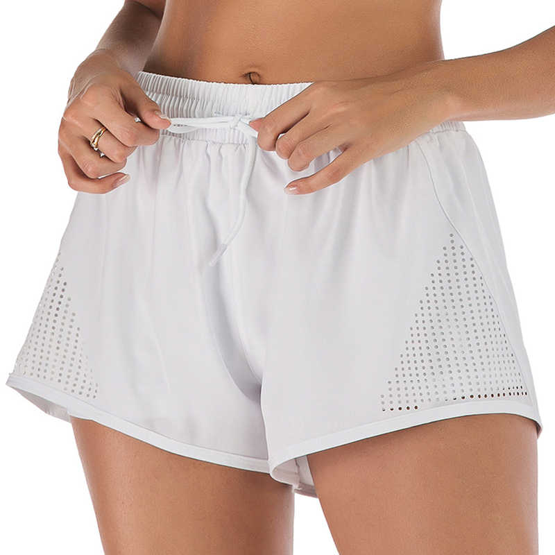 Yoga Shorts Frauen Atmungsaktive Sport-Shorts Läuft Fitness Gym Shorts Schnelle Trockene Übung Workout Training Shorts Freies Verschiffen L