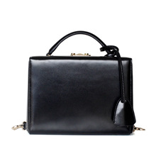 Vintage Genuine Leather Fashion Box Style Buckles Womens Handbag Shoulder Bag Crossbody Messenger Bags Ladies Pouch Bolsa Totes