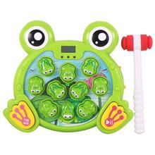 цена на GloryStar Cartoon Frogs Shape Hit Hamster Game Playing Music Interactive Toy for Baby Kids