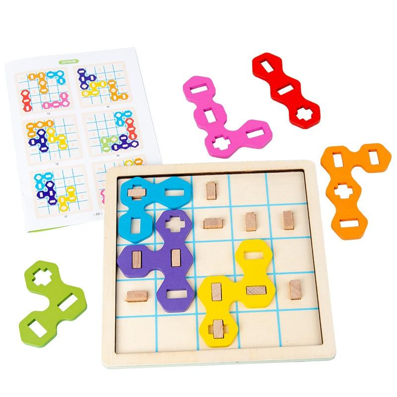 criancas tetris jigsaw board brinquedos de madeira 04