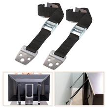new 2Pcs Anti-Tip Straps Flat TV Furniture Wall Belt Lock Portable Useful Fix Fastener with Screws fix flat furniture